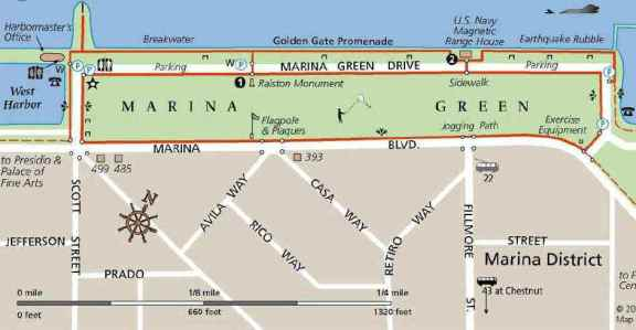 Marina Green Map